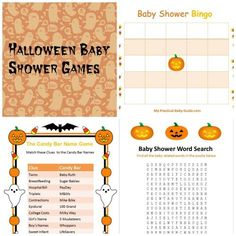 free printable halloween baby shower games - Halloween Baby Games