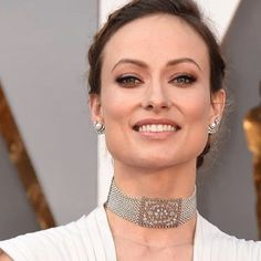 """""""Favorite jewels of the night worn by Olivia Wilde. Read about all of my favorite necklaces from the Oscars on @indesignmagazine."""" Photo taken by @liz_kantner on Instagram, pinned via the InstaPin iOS App! http://www.instapinapp.com (02/29/2016)"""