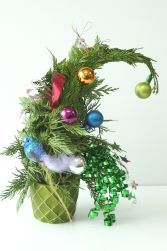 Who-ville or Grinch Tree! Try something a little different this year for Christmas! Makes a great gift for anyone living in a small space who can't have a Christmas Tree!