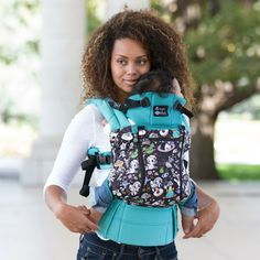 LÍLLÉbaby Complete All Seasons - TokiDoki Space Place Turquoise Limited Edition baby carrier available to purchase at The Infant Boutique
