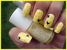 yellow on yellow with black Disney design