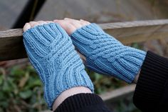 Swirling Gauntlets Fingerless Mitts Free Knitting Pattern