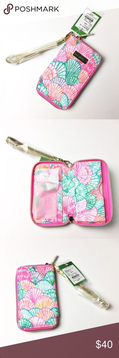 "Lilly Pulitzer Wristlet/iPhone 6 or 7 Case Lilly Pulitzer Wristlet and phone case in one!!  This is the Tiki Palm style.  According to apple website this should also fit iPhone 7 as the phone just slides into the compartment.  iPhone 6 dimensions according to apple are 5.44"" x 2.64"" x 0.27"".  iPhone 7 dimensions 5.44"" x 2.64"" x 0.28"".  Wristlet measures 3 3/4"" x 6 1/2"". Lilly Pulitzer Accessories Phone Cases"