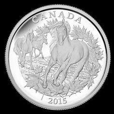 Belle pièce de collection célébrant le cheval canadien! Beautiful collector coin celebrating the Canadian horse!