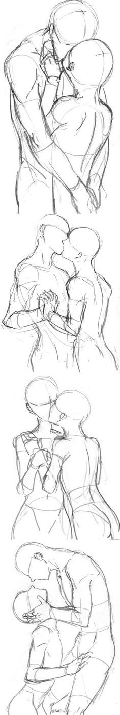 Kiss Poses || how to draw your OTP, kissing