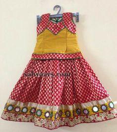 Red Mustard Benaras Skirt - Indian Dresses