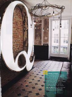 Oversized Industrial Letter...from a neon side at an old department store....awesome conversation piece!
