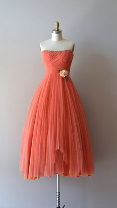 Ceil Chapman dress / coral 1950s dress / vintage 50s by DearGolden ~ amazing Etsy shop!!!!!