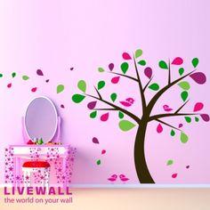 Παιδικα Αυτοκολλητα :: Ρομαντικό Δέντρο - Αυτοκολλητα Τοιχου - Διακοσμηση για παιδικο δωματιο και το σπιτι