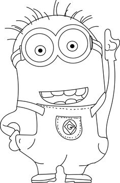 cool Minions Coloring Pages Check more at http://wecoloringpage.com/minions-coloring-pages/