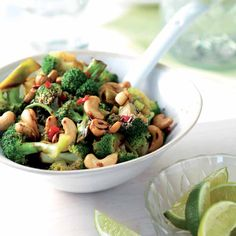 Pittige broccoli met cashewnoten