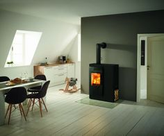 Chopping wood, lighting the fire, enjoying cozy warmth and flickering flames – sound delightful? Then why not get a wood burning stove? Hygge, Decoration, Home Appliances, Fire, The Originals, Architecture, Wood, Design, Home Decor
