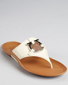 Salvatore Ferragamo Sandals - Demy Flat Thong | Bloomingdale's