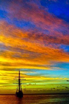 Whitsunday Islands - a spectacular sunset