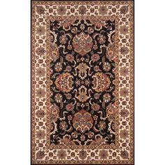 Momeni Persian Garden Black/White Area Rug Rug Size: 2' x 3'