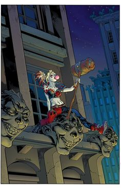 Harley Quinn Vol 3 # 1 - Yancy St. Comics Variant Cover by Tom Raney