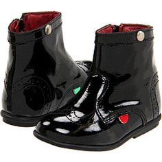 Kickers Kids - Starry patent leather boot