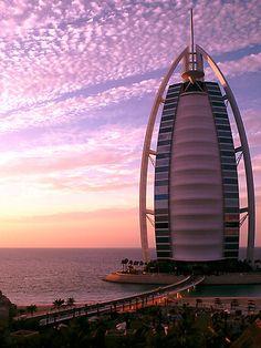 burj al arab at sunset...