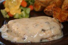 Pork Chops with Creamy Mushroom Gravy...tried it. Loved it.