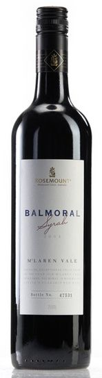 In stock - 55,–€ 2004 Rosemount Balmoral Syrah, red dry , Australia - 90pt Red wine of deep ink-red colour with boldly viscous rim. In aroma are present sweet pepper with mellowed blackberries and nicely integrated american oak in the end. In taste are fighting rose-apples and other sweet spicies, which together with delicious nuances of barrique tones create elegant wine. Aftertaste is persistent.