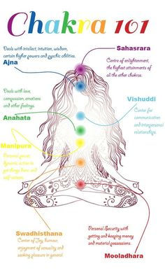 The word Chakra means wheel in the Sanskrit language. They are called this because they are seen as a series of wheel-like vortexes of energy in a person.