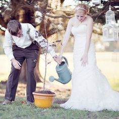 For nature lovers - tree planting ceremony. Just like a tree, marriage requires constant nurturing and nourishment. This ritual is a lovely living life time reminder of a bride and groom's marriage.
