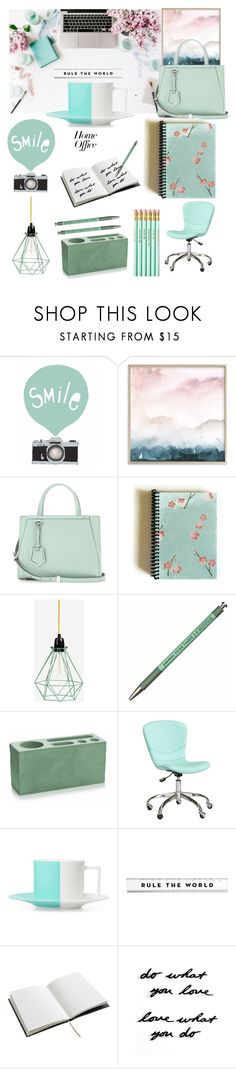 """""""Rule the world from home"""" by felicitysparks ❤ liked on Polyvore featuring Seventy Tree, Fendi, FilamentStyle, Hightide, PBteen, House of Hackney and Umbra"""