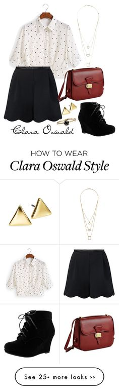 """Clara Oswald inspiration"" by whimsicalfangirl on Polyvore"