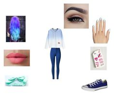 """Untitled #110"" by magconisbae2006 ❤ liked on Polyvore featuring Static Nails, Converse and LORAC"