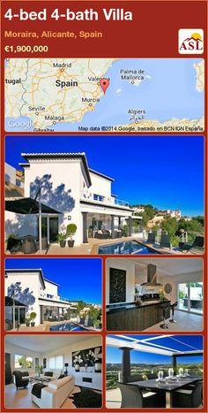 4-bed 4-bath Villa in Moraira, Alicante, Spain ►€1,900,000 #PropertyForSaleInSpain