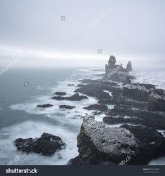 Royalty-free Sea stacks at Londrangar cliffs in… #392236885 Stock ...