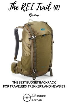 The REI Trail 40 is a pack designed for backcountry adventures and performs amazingly well for hiking, travel, and everything in between. The perfectly sized travel backpack carryon has . Hiking Gear, Camping Gear, Camping Store, Best Carry On Backpack, Recycling Services, Hiking Essentials, Camping Near Me, Cheap Backpacks, International Travel Tips