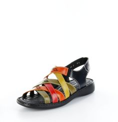 Unser Schuh des Tages: Diese bunten Sandaletten sehen nicht nur bezaubernd aus, sie sind auch komplett aus Leder und bequem zu tragen. Du wirst sie lieben. Josef Seibel, Damen Sandaletten – Lisa – multicolor; Jetzt in 360° Ansicht, nur bei PLAZA51!