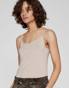 nude layering womenswear top from me+em,Totally Invisible Cami, basic clean cut top