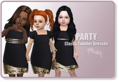 Xmisakix sims: Toddlers Classy Dress • Sims 4 Downloads