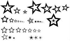 Black And White Tattoo Stars By Kurttepes Designs Interfaces Tattoos? | tattoos picture tattoo star