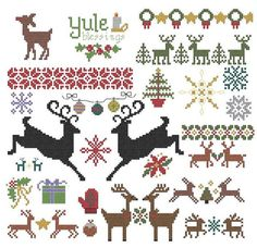 Winter Holiday Pattern Collection pdf christmas by pickleladyfarm, $7.00 ~ Want to use these to make Christmas ornaments.