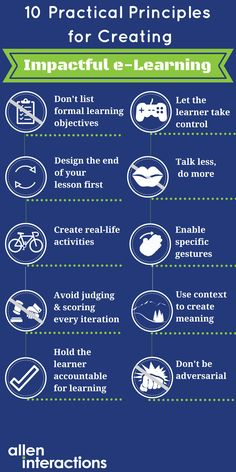 10 Practical Principles for Creating Impactful eLearning Infographic - http://elearninginfographics.com/10-practical-principles-creating-impactful-elearning-infographic/