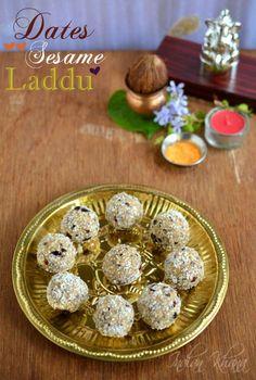 Vegan Dates Sesame Laddu Recipe