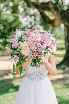 Lush lavender wedding bouquet: http://www.stylemepretty.com/2017/03/31/romantic-blush-lavender-summer-wedding/ Photography: Love and Light - http://loveandlightphotographs.com/