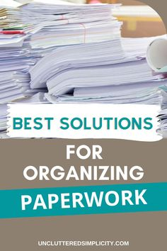 It doesn't matter who you are or where you come from. Paper clutter does not discriminate. Check out these top solutions for organizing paperwork that will help you organize paperwork for good! School Paper Organization, Organizing Paperwork, Organizing Life, Household Organization, Home Organization Hacks, Organizing Ideas, Organized Mom, Staying Organized, Messy Room