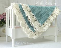 Crochet Baby Blanket PATTERN 24  Sweet Dreams  Baby Blanket