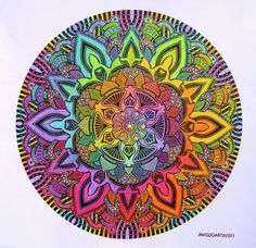 Colourful Mandala....  would make a gorgeous tattoo I guess...