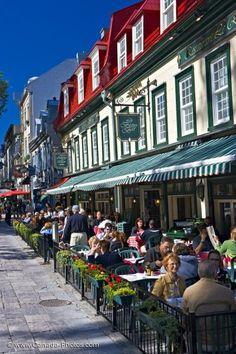 Street Cafes Place D Armes Quebec City