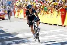 Richie Porte finishing second on stage 10