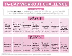 Switch up your home workout routine with this FREE 2-Week Workout Plan! This is a full body workout plan designed to challenge you and build strength at home! All you need is ~30 minutes a day and a set of dumbbells! This is a great way to jump start your fitness routine! 2 Week Workout Plan, 14 Day Workouts, Full Body Workout Plan, Free Workout Plans, Good Back Workouts, Workout Routines For Women, Weekly Workout Plans, 20 Minute Workout, Home Exercise Routines