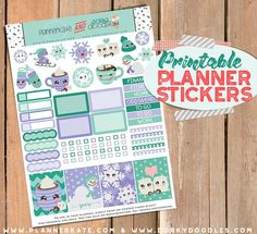 Printable Planner Stickers for Winter and Snow Days!