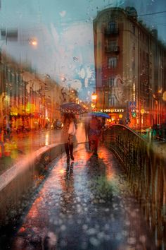 "plasmatics-life: "" Autumn Rain in St. Petersburg - {by Ed Gordeev} 