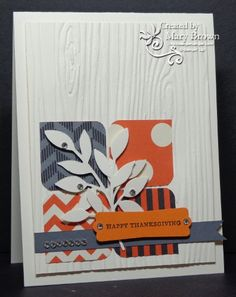 SU! Howlstooth and Scaringbone DSP and Woodgrain embossing folder - Mary Brown