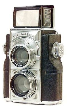1935 Zeiss Ikon Contaflex twin-lens reflex Camera. Uses 35mm film. De las que le gustan a @fotomaf